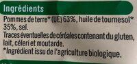 Chips nature bio - Ingrédients