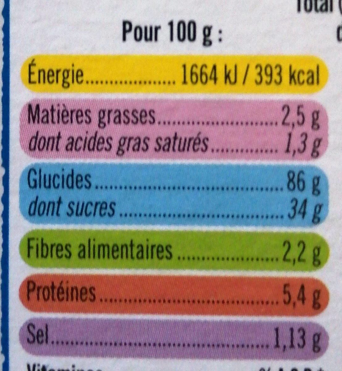 Riz soufflé - Nutrition facts - fr
