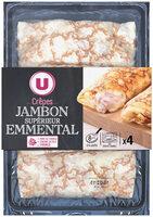 Crêpes de froment jambon emmental - Produit - fr