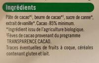 Chocolat noir 85% - Ingredients - fr