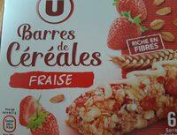 Barres de céréales fraise - Product