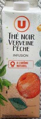 Boisson à base d'infusion de thé noir et verveine saveur pêche - Produit - fr