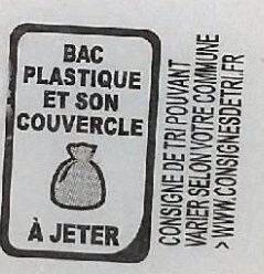 Sorbet Poire - Instruction de recyclage et/ou informations d'emballage - fr