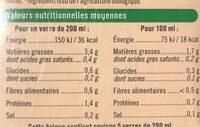 Boisson amande légère - Informations nutritionnelles - fr