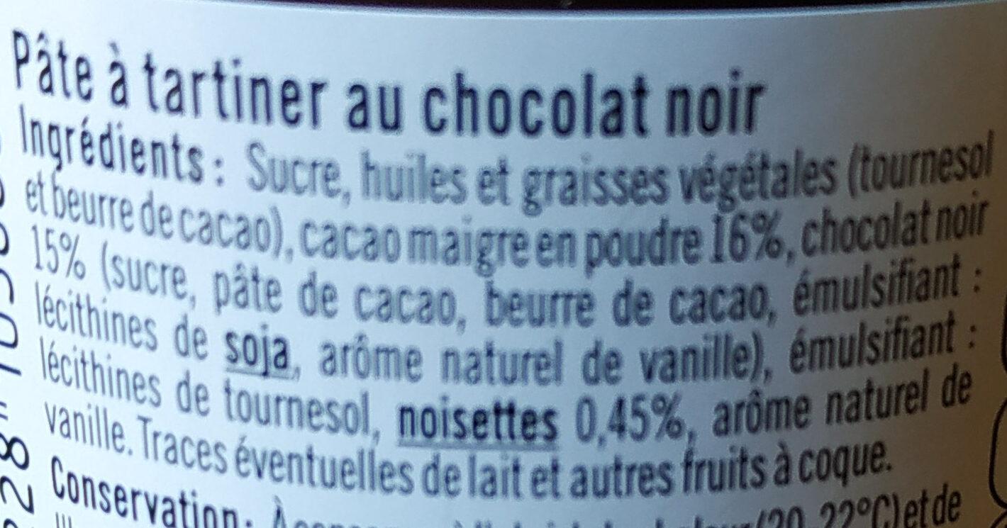 Pâte à tartiner au chocolat - Ingrédients - fr