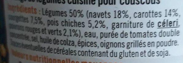 Légumes couscous - Ingrédients - fr