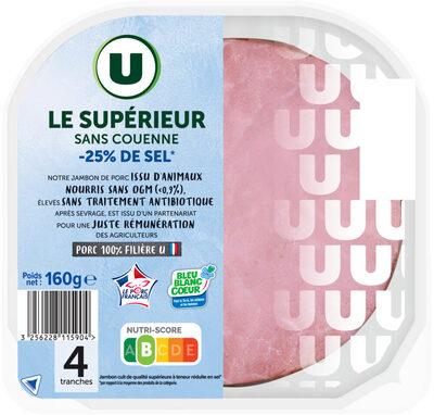 Jambon supérieur sans couenne tsr - Produit - fr