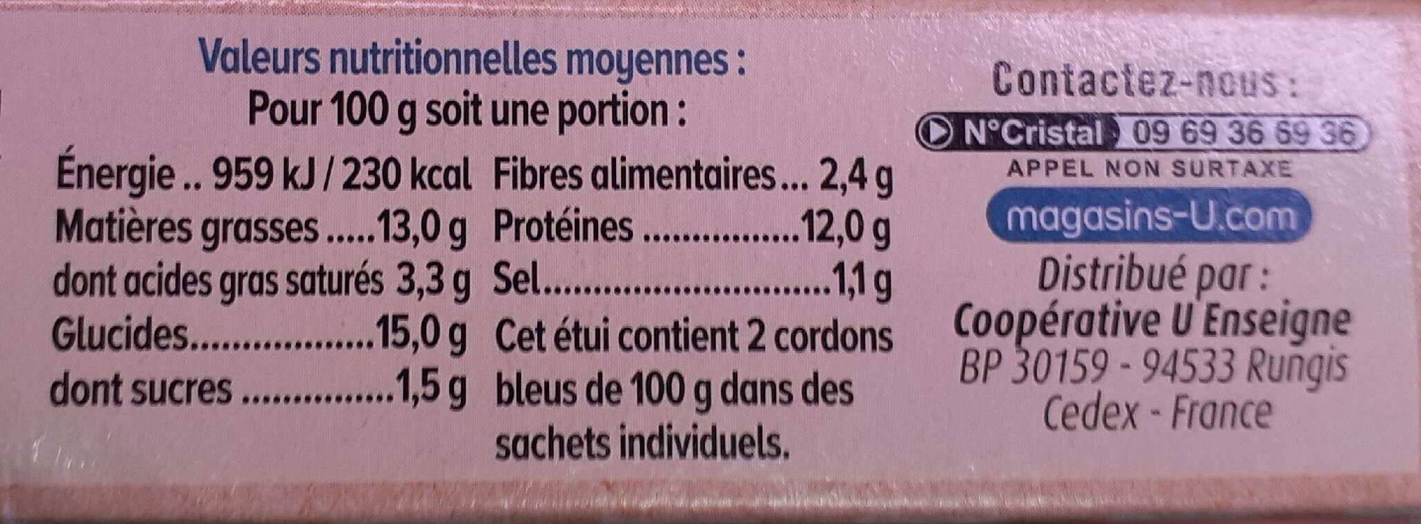 Cordon bleu de dinde - Informations nutritionnelles - fr