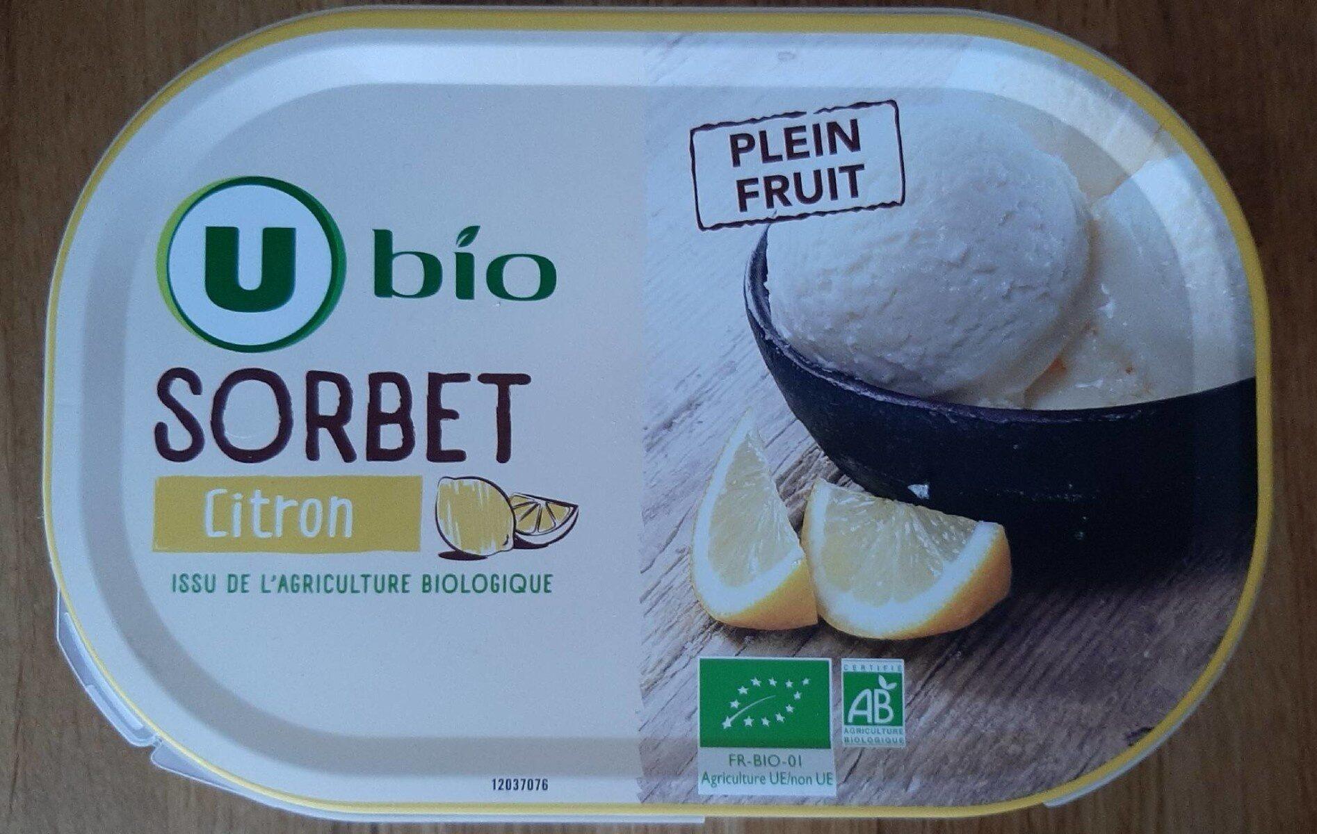 Sorbet pleins fruits citrons - Produit - fr