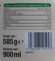 Sorbet pleins fruits citrons - Informations nutritionnelles - fr