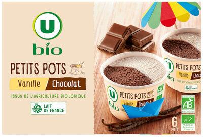 Petits pots vanillet/chocolat - Produit - fr