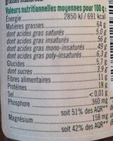 Purée de noisettes - Valori nutrizionali - fr