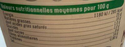 From.pâte filée lt past.bufflonne mozzarella - Nutrition facts - fr
