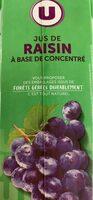 Jus de raisin à base de concentré - Product - fr