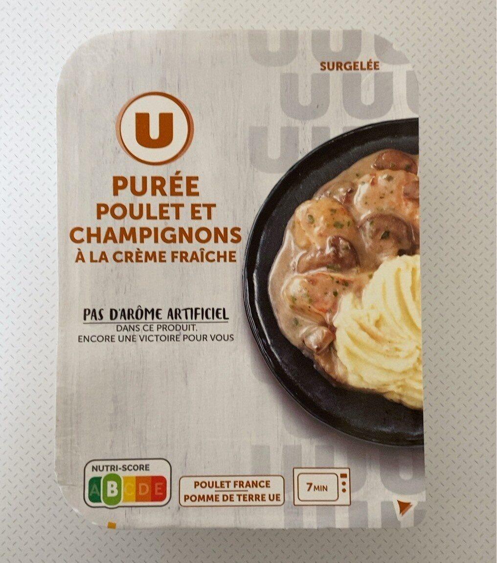 Purée poulet et champignons à la crème fraîche - Prodotto - fr