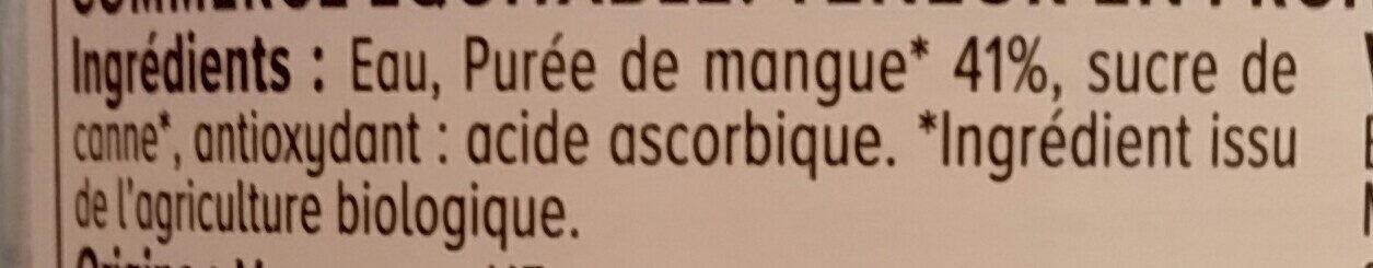 Nectar de mangue - Ingredienti - fr