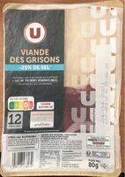 Viande de grison -25% de sel - Prodotto - fr