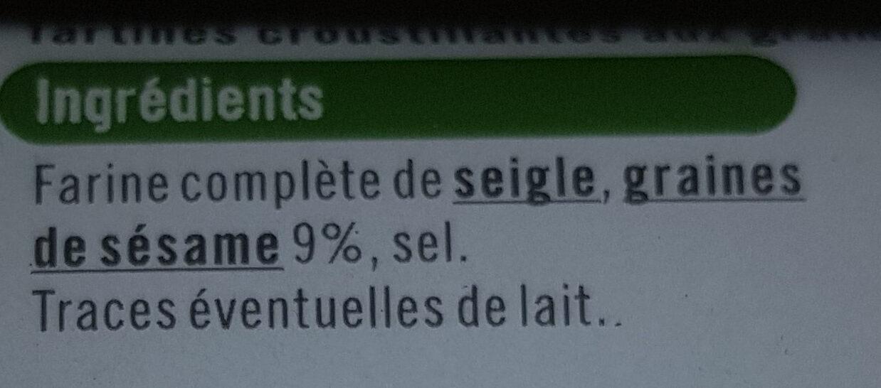 Tartines croustillantes au sésame - Ingredienti - fr