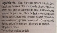 Saucisses Haricots - Ingredienti - fr