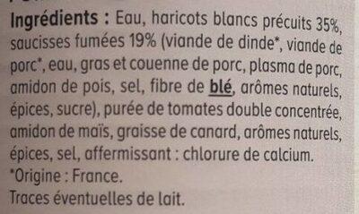 Saucisses Haricots - Ingredienti