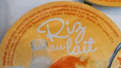 Riz au lait Sur lit de Caramel - Ingredients - fr