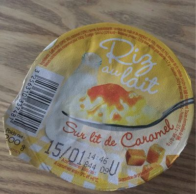 Riz au lait Sur lit de Caramel - Nutrition facts - fr