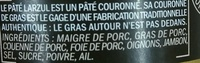 Le Pâté Larzul - Ingredients