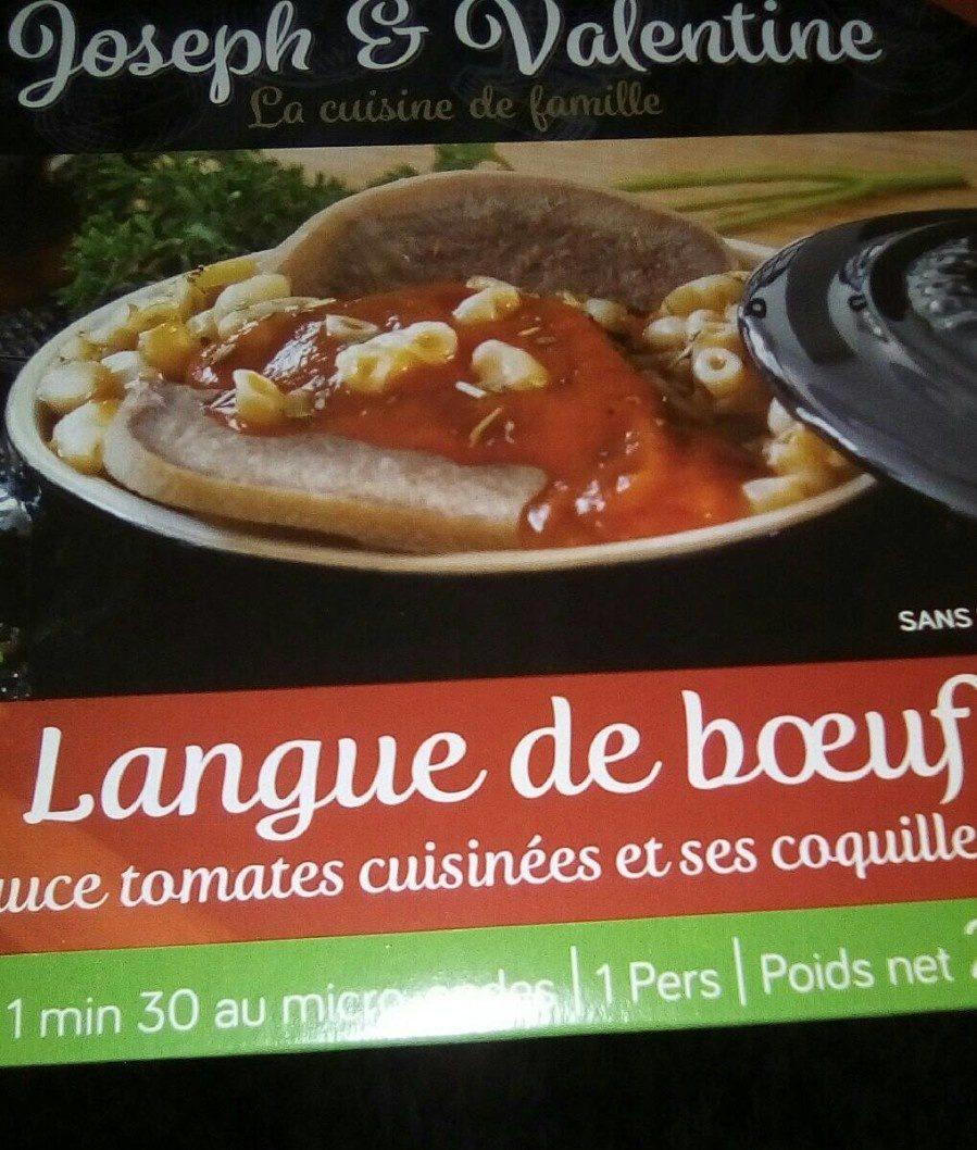 Langue de Bœuf, Sauce Tomates Cuisinées et ses Coquillettes - Product - fr