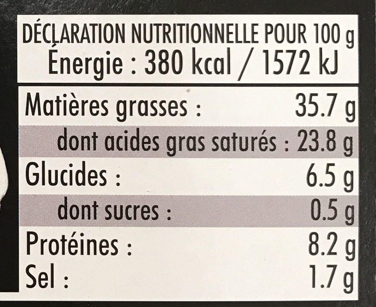 12 escargots de Bourgogne au beurre, ail et persil - Voedingswaarden - fr