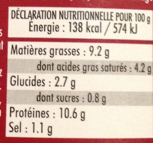 Langue de boeuf sauce piquante - Informations nutritionnelles - fr
