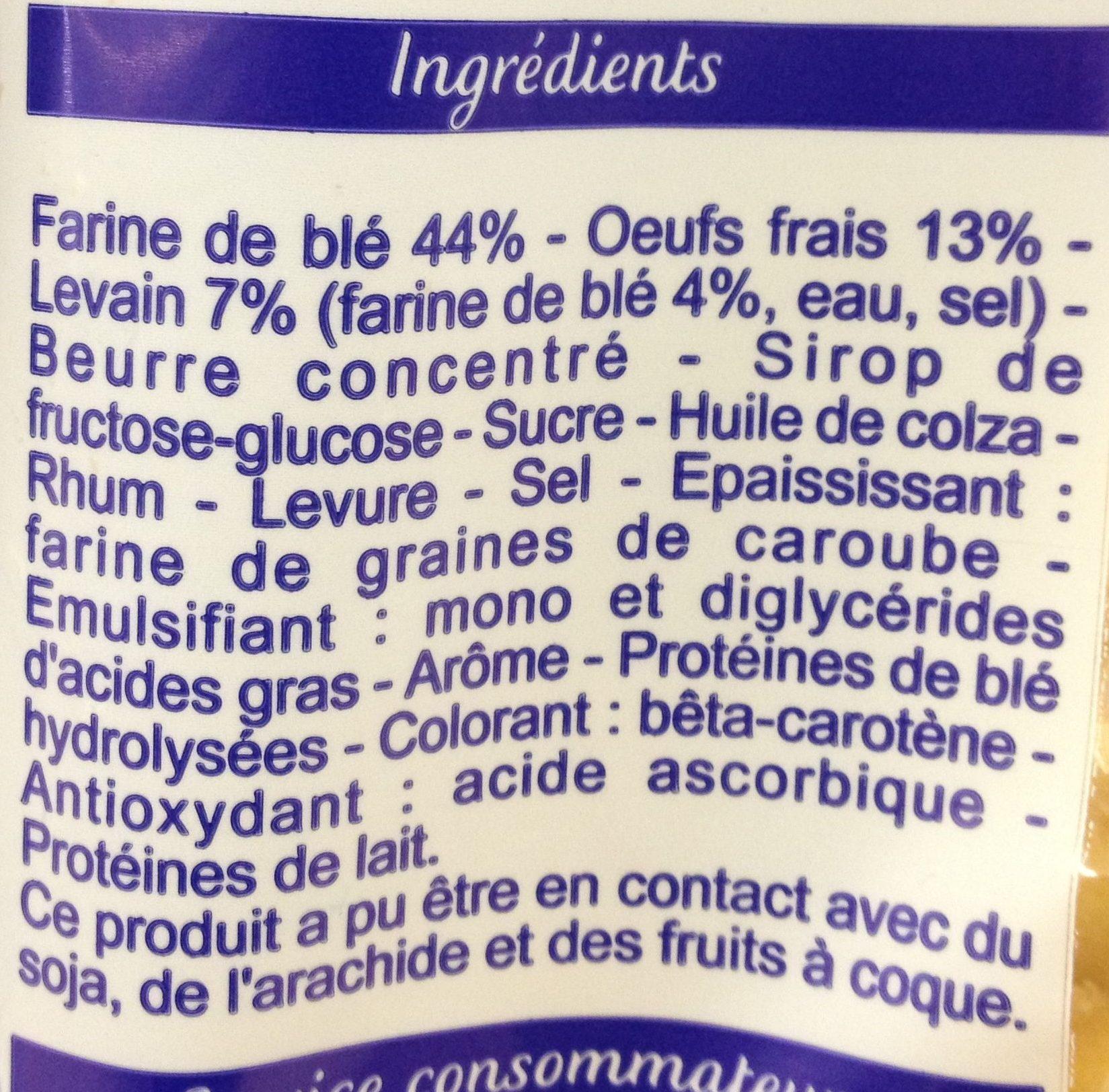 Brioche en tranches au levain - 500 g - Brioche Pasquier - Ingrediënten