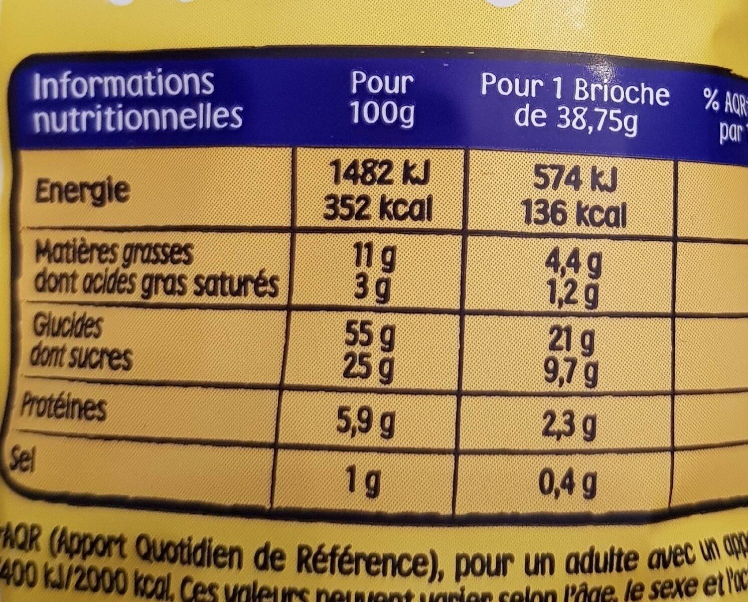 Pitch choco x 8 - Informations nutritionnelles - fr