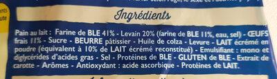 Pains au lait - Ingrediënten - fr