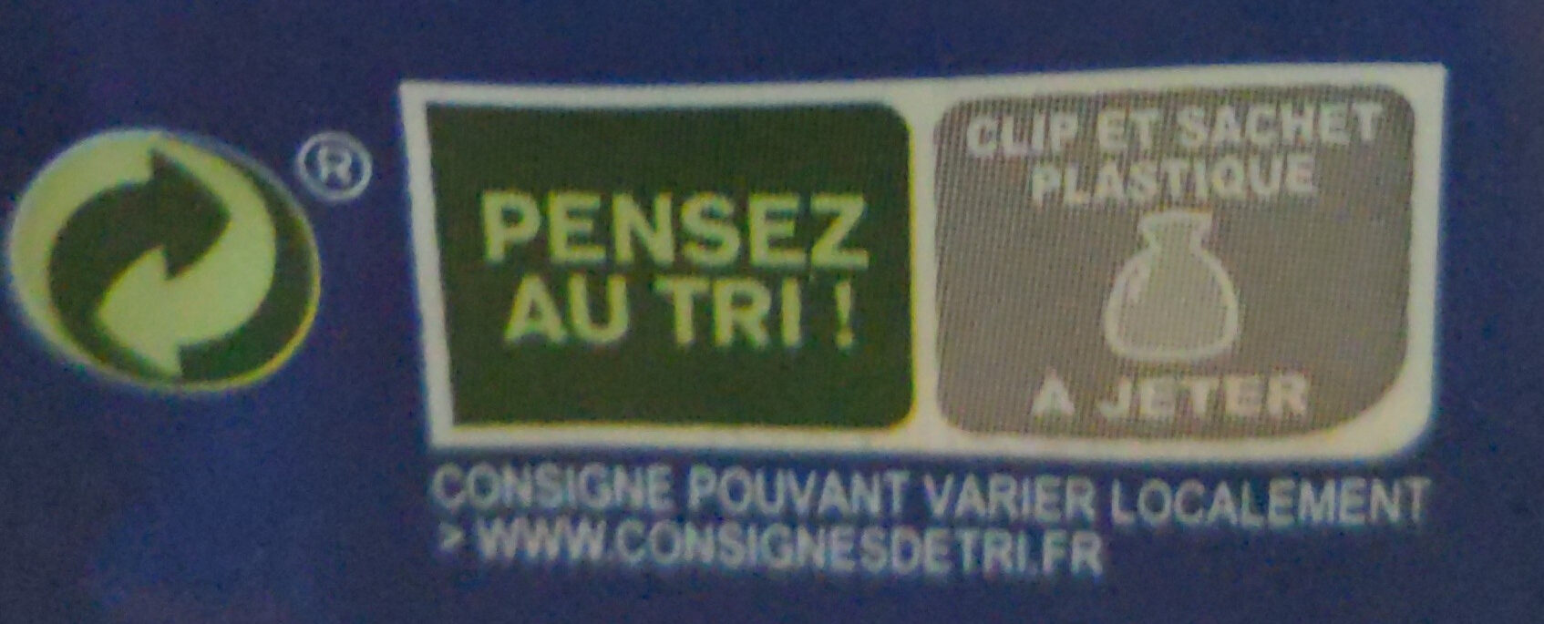 Pains au lait - Instruction de recyclage et/ou information d'emballage - fr