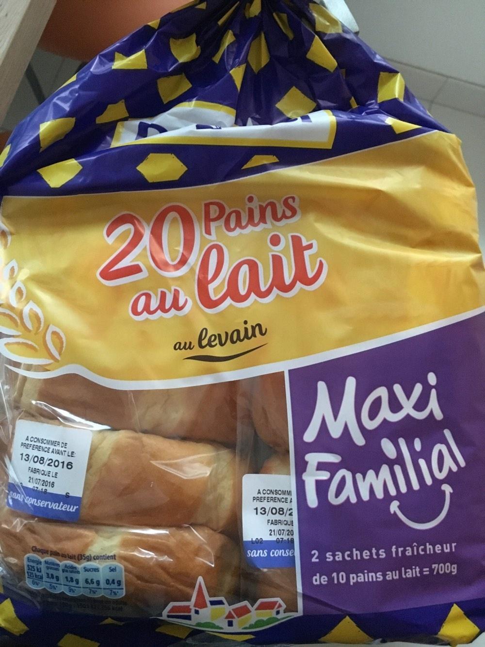 20 Pains au lait au levain (Maxi Familial) - Product - fr