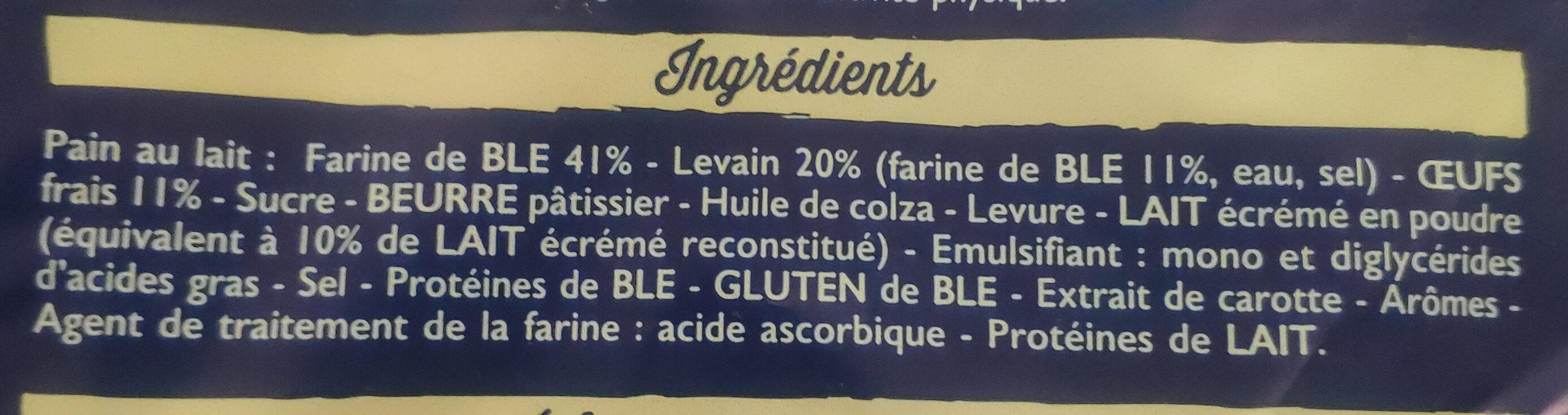20 Pains au lait au levain (Maxi Familial) - Ingrediënten - fr