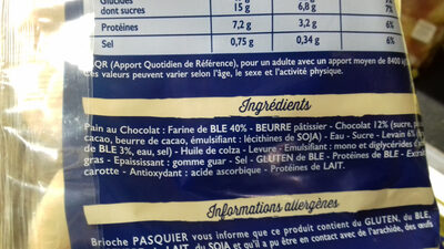 16 Pains au Chocolat au levain - Ingrediënten