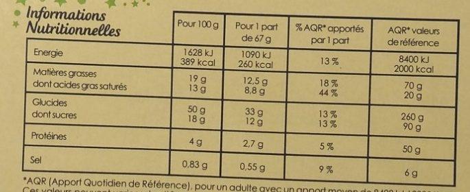 Galette des Rois Pomme - Nutrition facts