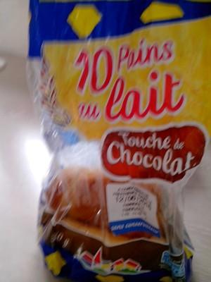 Pains au lait `touche de chocolat` PASQUIER, 10 unités, 350g - 1