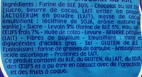 Pitch Choco Barre - Chocolat au Lait - Ingredients