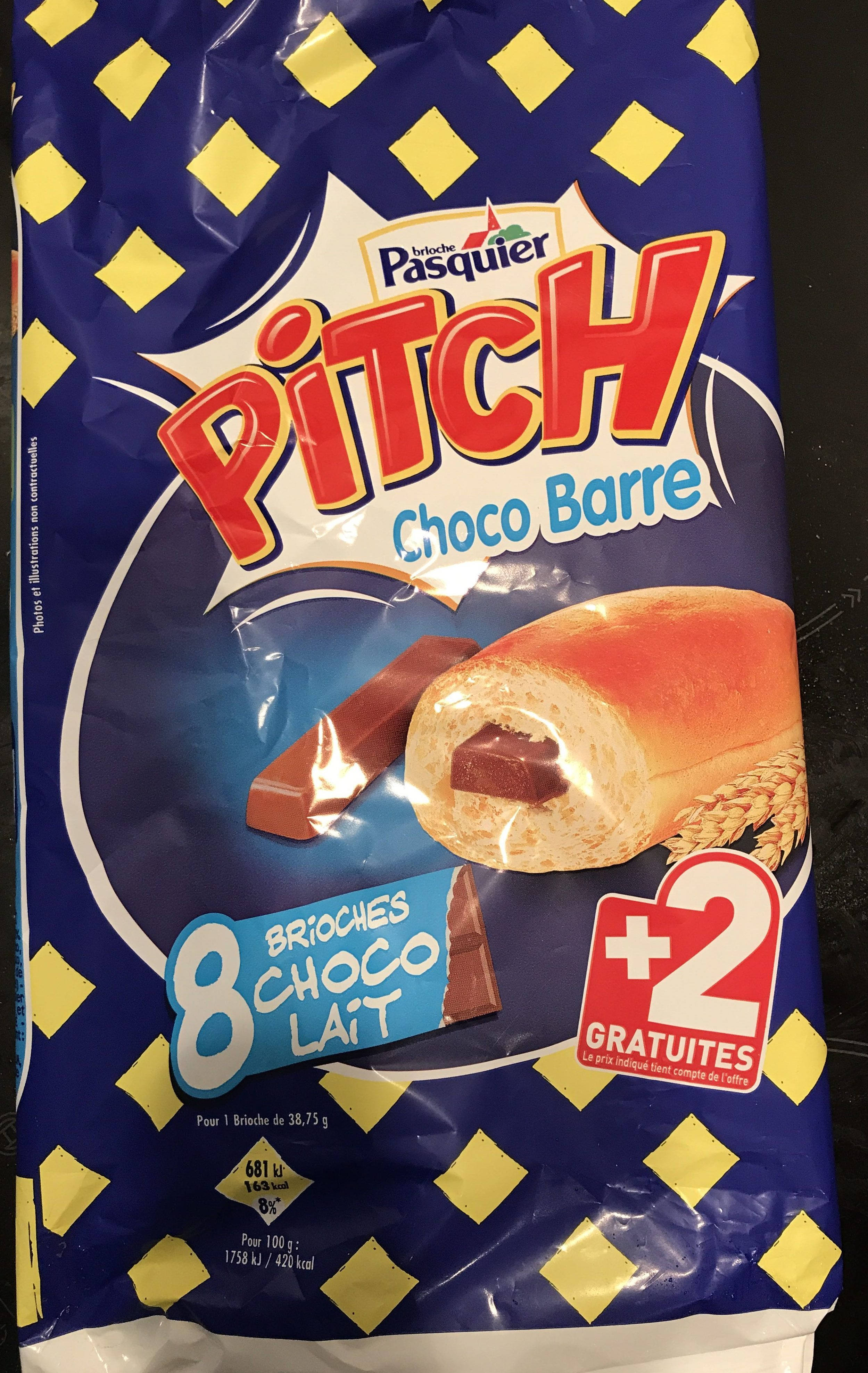 Pitch choco barre lait x 8 + 2 gratuits - Product - fr