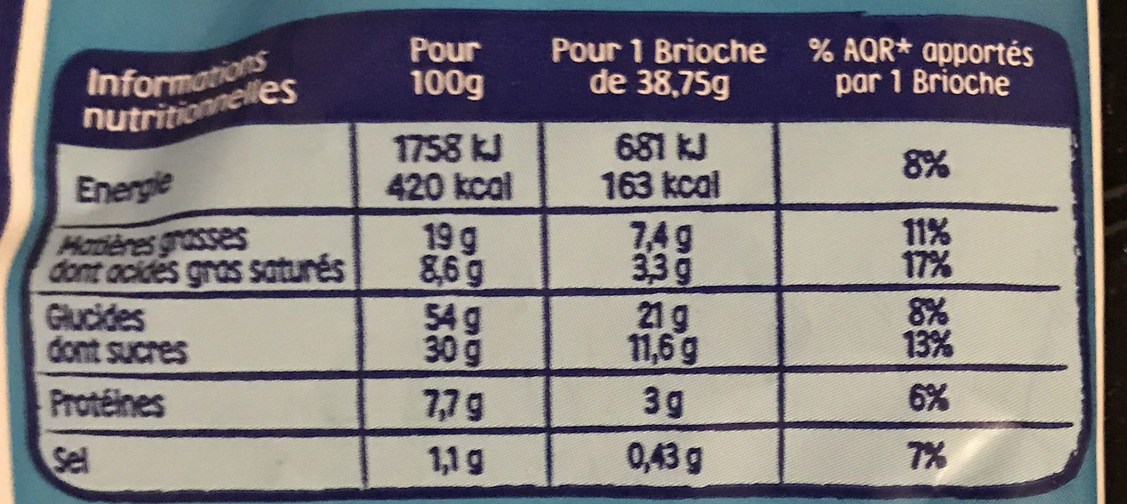 Pitch choco barre lait x 8 + 2 gratuits - Nutrition facts - fr