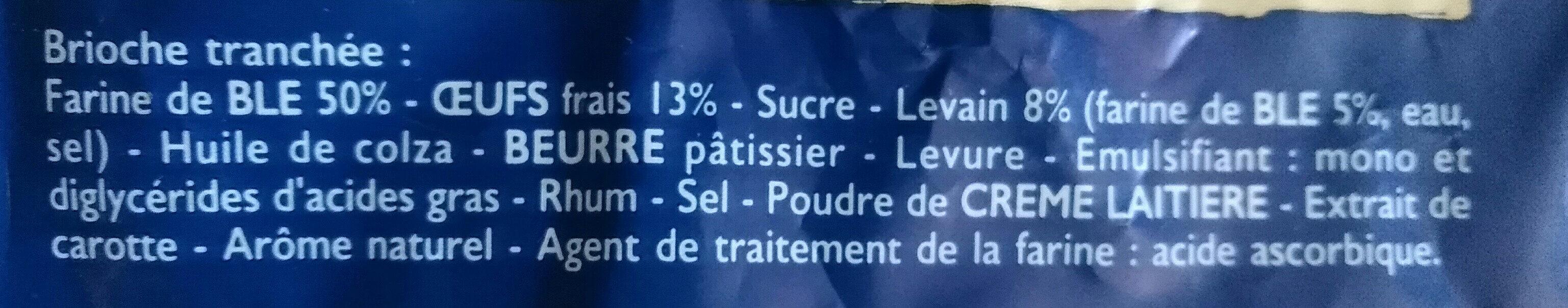 Brioche tranchée - Ingredienti - fr