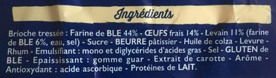 Brioche tressée - Ingredients