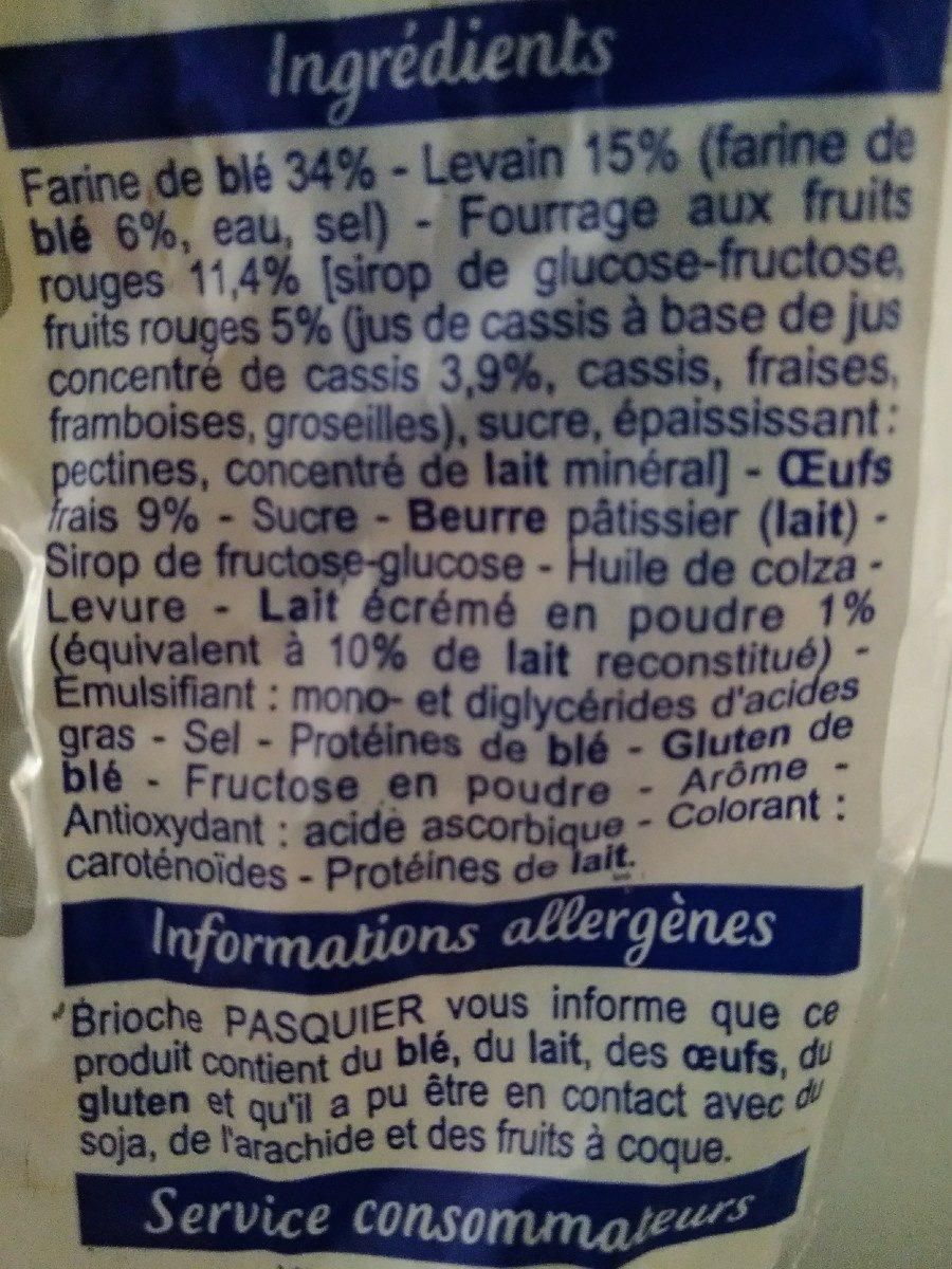 Pain au lait Touche de fruits rouges - Ingrediënten - fr