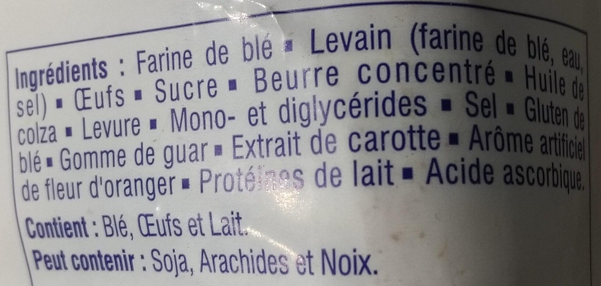 Brioche tressée tranchée - Ingrédients - fr