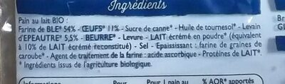 pains au lait - Ingredients - fr