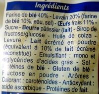 Pain au lait - 420 g - Brioche Pasquier - Ingrediënten - fr