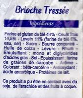 Brioche tressée au levain - Ingrédients - fr