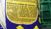 Pitch - Brioches pépites chocolat - Ingrediënten - fr